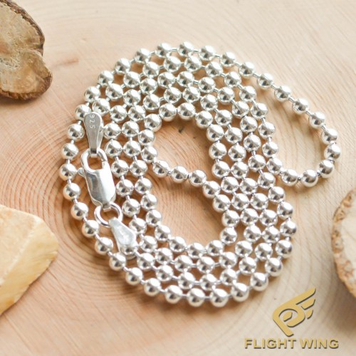 【NEW】3㎜ 50㎝ , 60㎝ Silver Ball Chain / Stop Light