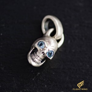 【NEW】Vintage Skull Top and Blue Topaz / BWL Bill Wall Leather