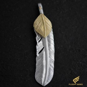 【used】Extra Large Feather with K18 Heart Right / Goro's 高橋吾郎