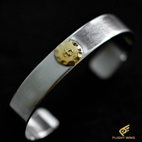 【used】Flat Out Bracelet with K18 Metal (M) / Goro's 高橋吾郎
