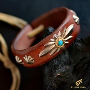 【used】GC24TQ Leather Bracelet Saddle / Goro's 高橋吾郎