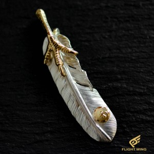 【used】Extra Large Feather with K18 Gold Claw Left / Goro's 高橋吾郎