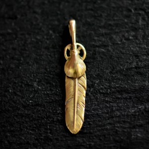 【used】K18 Gold Heart Wheel Feather (S) / Goro's 高橋吾郎