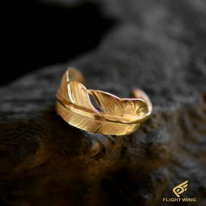 【used】K18 Feather Pinkie Ring / Goro's 高橋吾郎