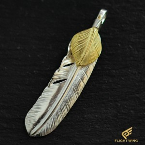 【NEW】Extra Large Feather with a K18 Heart Right  / Goro's 高橋吾郎