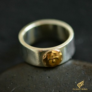 【used】Flat Out Ring with K18 Metal (#16) / Goro's 高橋吾郎