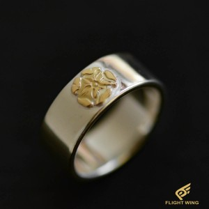【used】Flat Out Ring with K18 Rose Metal (#20) / Goro's 高橋吾郎