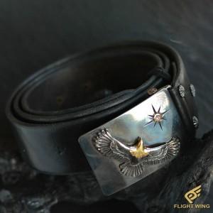 【Special Order】Eagle Belt Black ※89㎝ , 91.5㎝ , 94㎝ / Goro's ゴローズ