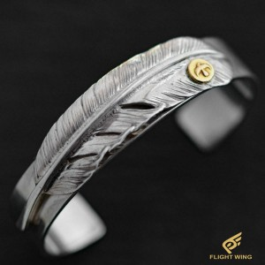 【used】 Feather Bracelet with K18 Metal (M) / Goro's 高橋吾郎