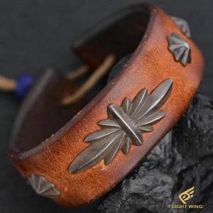 【used】GC24 Leather Bracelet Light Brown / Goro's 高橋吾郎