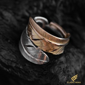 【used】Combination Feather Ring  (#8) / Goro's 高橋吾郎
