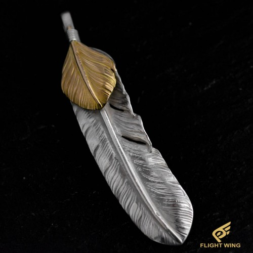【used】Extra Large Feather with K18 Heart Left / Goro's 高橋吾郎