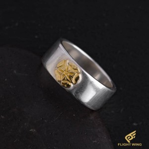 【used】Flat Out Ring with K18 Rose Metal (#19) / Goro's 高橋吾郎