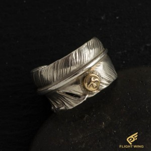 【used】SV Feather Ring with K18 Metal (#21) / Goro's 高橋吾郎