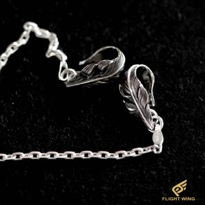 【NEW】50㎝ , 60㎝ Feather Hook Chain Necklace / Horizon Blue