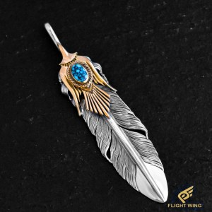 【NEW】K18 Eagle Crest Feather TQ Set / Horizon Blue