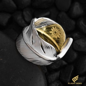 【NEW】K18 Top SV Feather Ring / La Key