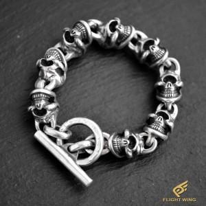 【NEW】8 Skull Link Bracelet  / Stop Light