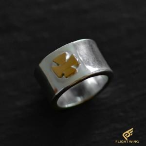【NEW】K18 Iron Cross Ring (#17) / Stop Light
