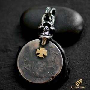 【NEW】1$ Morgan Coin Top and K18 Iron Cross  / Stop Light