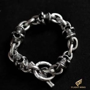 【NEW】5 Skull Link Bracelet / Stop Light