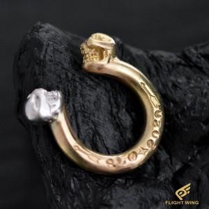 【NEW】K18 & SV 2 Skull Ring (#8) / Stop Light