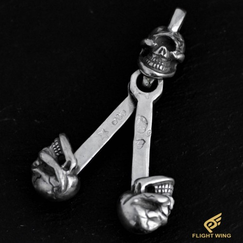 【NEW】3 Skull Piston Top / Stop Light
