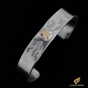【NEW】K18 Iron Cross Bracelet (L) / Stop Light