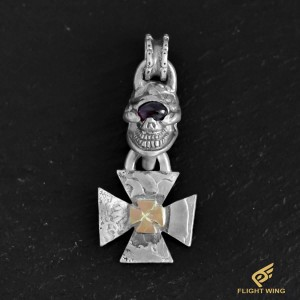 【NEW】Skull Iron Cross Top and Amethyst Eye , K18 Iron Cross / Stop Light